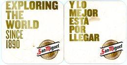 San Miguel. Exploring The World Since 1890. Y Lo Mejor Esta Por Llegar. Cerveza International. Espana. Spain. - Portavasos
