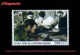 CUBA MINT. 2014-19 55 ANIVERSARIO DE LA LEY DE REFORMA AGRARIA - Cuba