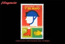 CUBA MINT. 2015-13 DÍA MUNDIAL DEL TRABAJO. MEDIOS DE PROTECCIÓN LABORAL - Cuba