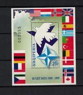 ALBANIEN , Albania ,1999  , ** , MNH , Postfrisch , Mi.Nr. Block 117 - Albanie