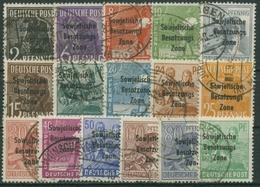 SBZ Allgemeine Ausgabe 1948 Freimarken Mit Aufdruck 182/97 Gestempelt - Zona Sovietica