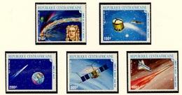 Centrafrique - Zentralafrikanische Poste Aérienne 1986 Y&T N°PA341 à 345 - Michel N°1203 à 1207 *** - Comète De Halley - Centrafricaine (République)