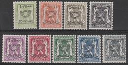 Preo Serie Nr 27 Pre 520/528  ** 1944 - Prematasellados