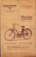 Motoconfort, Mobylette, Depliant Entretien      (etat Voir Photos) - Motorfietsen