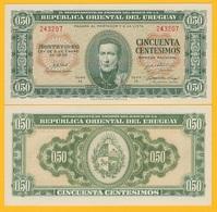 Uruguay 50 Centesimos P-34 1939 (Serie H) UNC Banknote - Uruguay