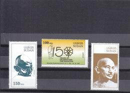 Stamps SUDAN 2019 INDIA 150 ANNIVERSARY MAHATMA GANDHI BIRTH MNH SET */* - Inde