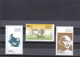 Stamps SUDAN 2019 INDIA 150 ANNIVERSARY MAHATMA GANDHI BIRTH MNH SET */* - Mahatma Gandhi