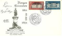Norway 1964 150th Anniversary Of The  Constitution Of Norway Mi 516-517 FDC - Brieven En Documenten