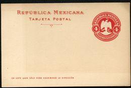 Mexico Postal Card MEPSI #PC116 Mint Vf 1910 - Mexico