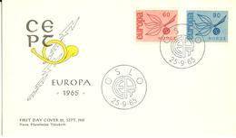 Norway 1965 Europa Cept,  Mi 532-533 FDC - Brieven En Documenten