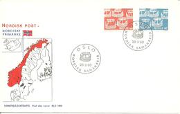 Norway 1969  Norden: 100 Years Of Cooperation Between Scandinavian Postal Administrations  Mi 579-580 FDC - Brieven En Documenten