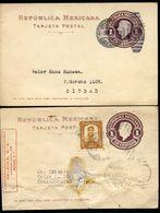 Mexico Postal Cards MEPSI #PC117 Corner Card Used To COSAMALOAPAN + CDMX 1919-22 - Messico