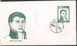 Peru - 1984 - FDC - Hipolito Unanue - Pionnier De La Médecine Péruvienne - Medicine
