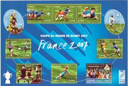 BLOC - 110  -  2007  -  Coupe  Du Monde De Rugby -  FRANCE 2007   -   Neuf   - Non Plié  - - Ungebraucht