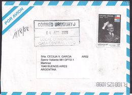 Uruguay - 2008 - Lettre - Salvador Allende - Ancien Président Du Chile - Uruguay