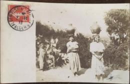 Carte Photo CPA, Femmes Kabyles Portant Des Cruches D'eau Sur La Tête, écrite En 1913 - Algérie