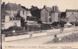 """CPA écrite - 44 - Loire Atlantique - Préfailles - Les Chalets """"Micaëlla"""" - """"Long-Avel"""" - """"Les Bruyères"""" - Préfailles"""