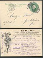 Mexico Postal Card MEPSI #PC119 ADVERTISED EL PAJE Used To Guadalajara 1912 - Messico