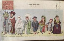 CPA, Illustrateur ASSUS, HUMOUR-Types Algériens - Barbier Turc, Caïd, Mauresque, Cadi, Napolitain, Mauresque, Etc, 1905 - Algérie