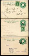 Mexico 3 Postal Cards MEPSI #PC119 Torreon + Tampico + CDMX To Germany 1911-12 - Messico