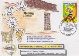 Carte Locale  1er  Jour  FRANCE  JOURNEE  Du  TIMBRE   NIMES   1999 - Giornata Del Francobollo