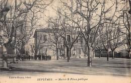 CPA SEPTEMES - Mairie & Place Publique - Quartiers Nord, Le Merlan, Saint Antoine