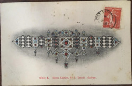 CPA, Bijoux Kabyles, Série A, N° 1:Tassabt: Diadème, écrite En 1908, - Redjah Mahiout Bijoutier, Beni-Yenni - - Algérie