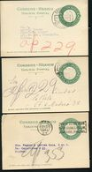 Mexico 3 Postal Cards MEPSI #PC126 II Preprinted Used CDMX 1926-27 - Messico