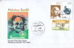 Fdc SUDAN 2.10. 2019 INDIA 150 ANNIVERSARY MAHATMA GANDHI BIRTH. FDC CACHET C - Sudan (1954-...)