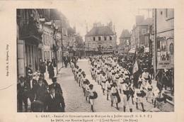 Rare Cpa Gray Festival De Gymnastique Et De Musique Du 9 Juillet 1922 Le Défilé L'éveil Sportif De Dijon - Gray