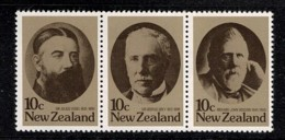 New Zealand 1979 Statemen Strip Of 3 MNH - Neufs