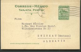 Mexico Postal Card MEPSI #PC128 Preprinted Used To Germany 1931 - Messico