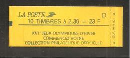 France, 2614-C6A, Daté, Carnet Neuf, Non Ouvert, TTB, Conf. 8, Jeux Olympiques, Carnet Marianne De Briat - Usage Courant