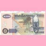 Billet Zambie 100 Kwacha - Zambie