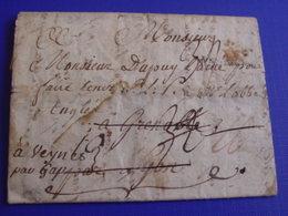 DÉBOURSÉ GRENOBLE (ISÈRE) Sur Lac BERLIN ALLEMAGNE-Marque ? Réadressée Veynes / Gap 1773 -indice - Marcophilie (Lettres)