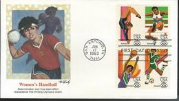 USA. Scott # C101-04a,  FDC. Summer Olympic Games Los Angeles 1983 - Estate 1984: Los Angeles