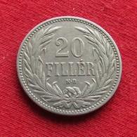 Hungary 20 Filler 1894 KM# 483 *V2  Hongrie Hungria Ungarn Ungheria Magyar - Hungría