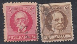 Cuba, Scott #275, 278, Used, Gomez, Palma, Issued 1925 - Cuba