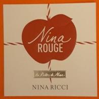TARJETA NINA ROUGE - NINA RICCI. - Cartas Perfumadas