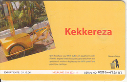 UGANDA(chip) - Kekkereza, MTN Publicom Telecard Shs 25000, Chip GEM3.1, Exp.date 31/1/06, Used - Uganda