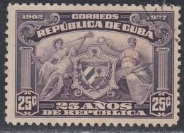 Cuba, Scott #283, Used, Arms Of Republic, Issued 1927 - Kuba