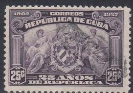Cuba, Scott #283, Used, Arms Of Republic, Issued 1927 - Cuba