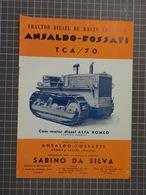 Cx 10-X) Publicité Agriculturre ALFA ROMEO MOTOR TRACTOR DIESEL ANSALDO-FOSSATI TCA/70 - Pubblicitari
