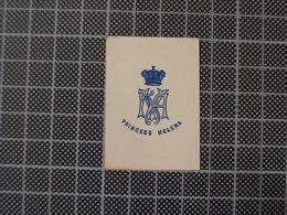 Cx 10-X) Découpis Monograme Blason Coat Of Arms PRINCESS HELENA - Immagine Tagliata