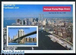 Grenada Grenadines 1992 Stamp Mega Event S/s, (Mint NH), Art - Bridges And Tunnels - Philately - Grenada (1974-...)