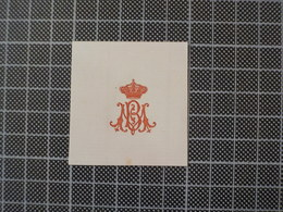 Cx 10-X) Découpis Monograme Blason Coat Of Arms Royalty Portuguese Portugal - Immagine Tagliata
