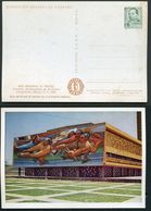 MODERN MEXICAN ART: Mexican Pictograph. An Old Manuscript. Mexico MEPSI #PC148 B4 Unused 1957 - Modern