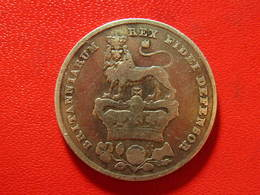Royaume-Uni - UK - Shilling 1826 George IV - Coin Fissuré, Date Modifiée, 8 Sur 8 Et 6 Sur 2 Peut-être 3800 - 1816-1901: 19. Jh.
