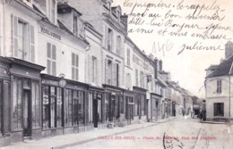 77 - Seine Et Marne -  CRECY En BRIE -  Place Du Marché - Rue Des Huiliers - Autres Communes