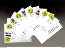 ⚽ ALLEMAGNE 2006 Sur 10 Env 1er Jour.de La Collection CACHETS PREMIER JOUR N° YT 3906 à 3915 FDC - 2006 – Allemagne